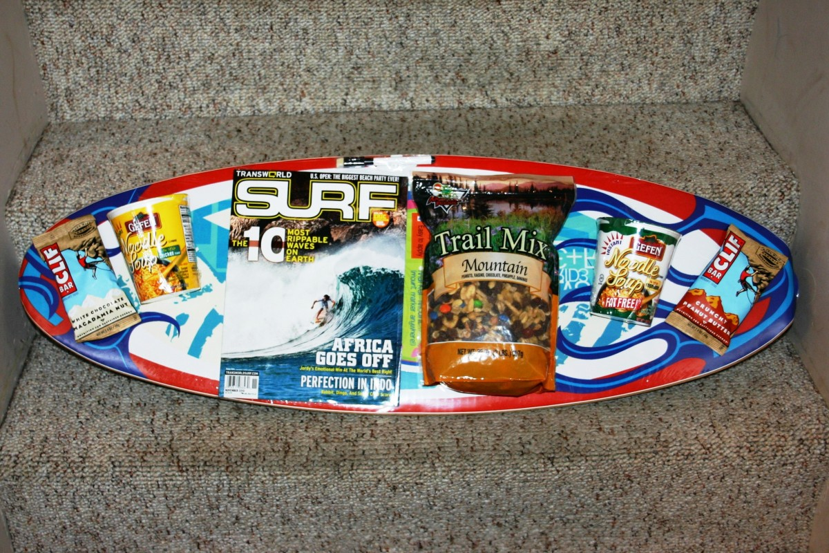 Cool Surf Board Gift Basket Bravo Baskets