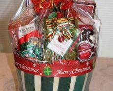 custom holiday gift basket