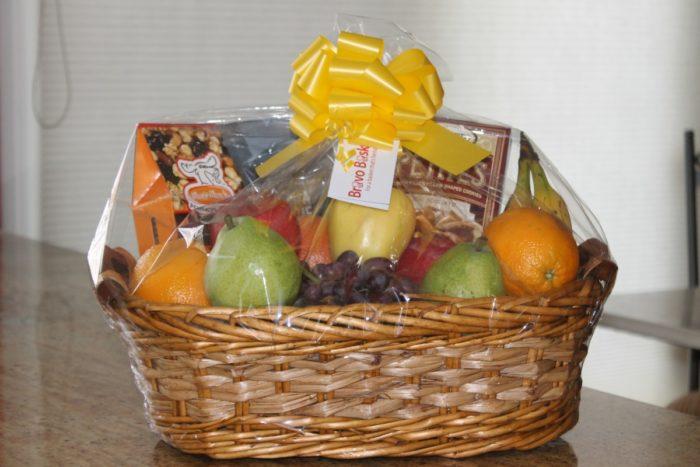 custom fruit and sweets gift basket