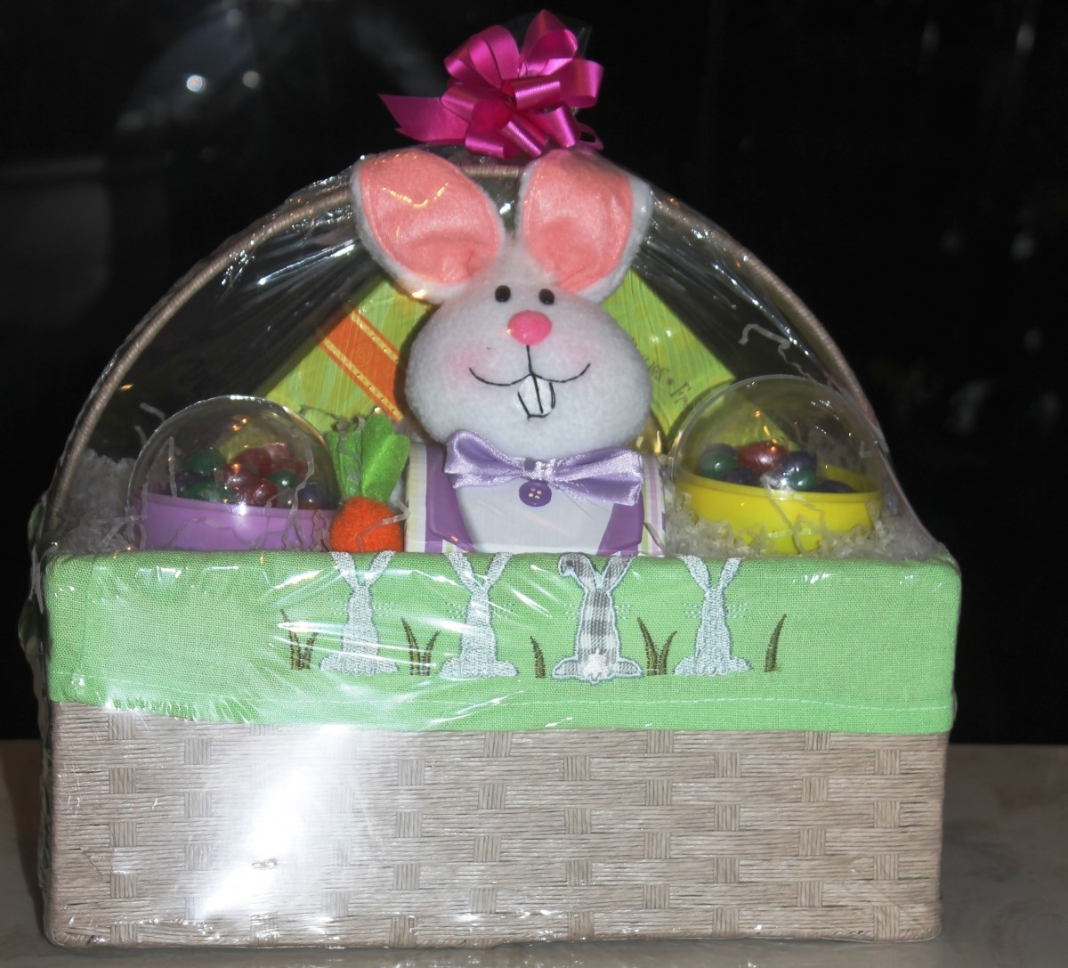 Here comes peter rabbit in an custom made easter basket - Custom made easter baskets ...